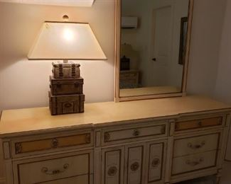 https://ctbids.com/#!/description/share/537556 Dresser measures H 32 x L 76 x W 19 inches. Mirror measures H 51 x L 31 inches.