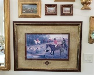 https://ctbids.com/#!/description/share/537361 Hunting by Horseback Framed Art. 4 pieces of framed art.