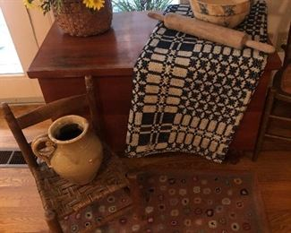Dovetail blanket Chest  Childs chair  Early Basket