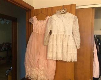 Vintage 1st Communion Dress and a size 6 Princess Dress!  or even a flower girl dress!