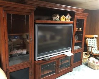 Beautiful and Adjustable Entertainment Center with Large TV