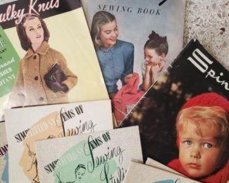 Vintage sewing  pamphelts