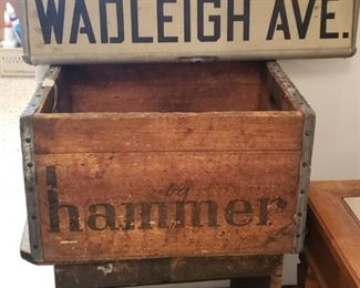 Street sign from where the owners lived in New York-