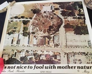 poster from the Winter Park sinkhole- remember that??