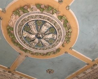 Beautiful Carved Plaster Ceiling (home will be going on the market after the estate sale)