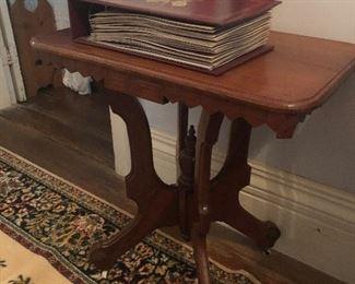 Small Walnut Victorian Lamp Table