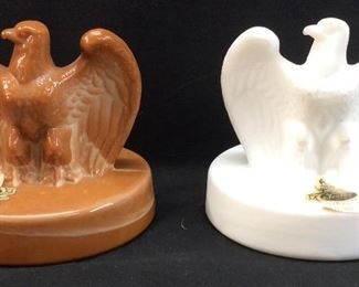 2 VTG. FENTON EAGLE PAPERWEIGHT SCULPTURES