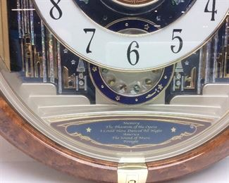 SEIKO MELODIES IN MOTION PHANTOM OF OPERA WALL CLOCK