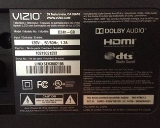 VIZIO D24H-G9 LED SMART TV