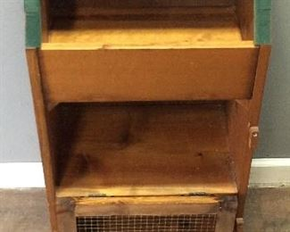 SMALL BREAD BOX WITH 2 DRAWERS