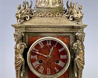Tiffany & Co. Bronze Satyrs & Griffins Clock