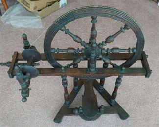 Antique French Parlor Spinning Wheel