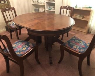 Eastlake table with chairs
