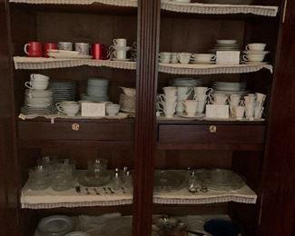 Vintage China, stoneware, and glassware