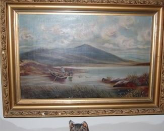 late 1890's oil painting