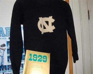 Father player baseball at Carolina, here is his wool sweater from UNC-1930's-University NC
