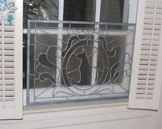 Kitty Cat leaded window