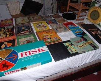 Children's books and vintage games