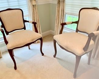 "16. Pair of Louis XV Chairs (28"" x 24"" x 38"")"