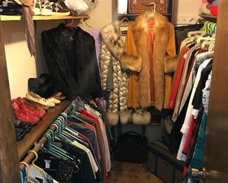 Clothing and fur coats.