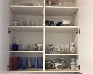 Dishes, glasses, kitchen