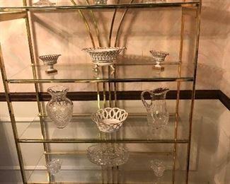 Glass and brass shelve 35.00