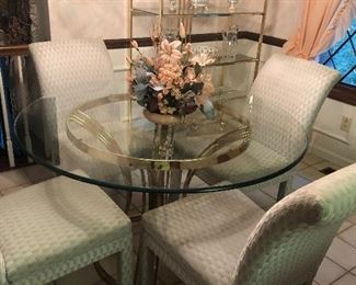 Glass table and 4 chairs 95.00