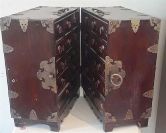 Korean apothocary chest for travel.