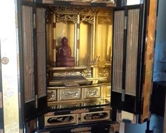 "48"" h Buddhisn shrine. Antique, excellent quality. Must see."