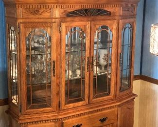 Canal Dover Oak Canted Hutch - $1200.00  (retail $7,200)