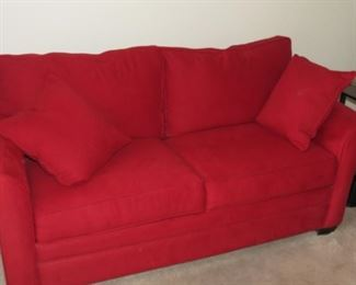 NICE RED SOFA HIDEABED.