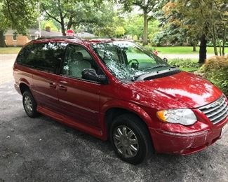 2007 Chrysler Town and Country Limited Mini Van.  Wheelchair accessible.  62,000 miles.  Highest bid will be accepted.