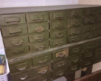 2 vintage Lyon industrial 24-drawer cabinets