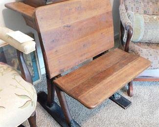 Wonderful antique school desk