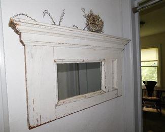 Architectural salvage hall mirror