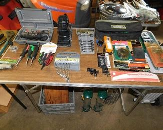 Dremel, sander, hand tools. Wild Birds Unlimited bird feeders.