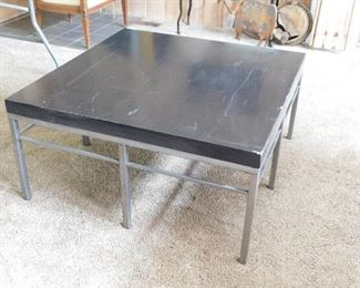 Large square coffee table.