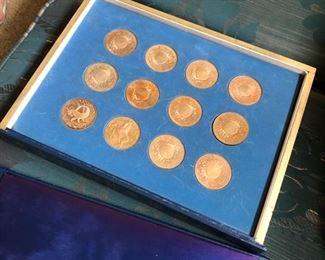 Franklin Mint Zodiac Collector coins