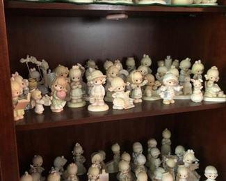 Hundreds of Precious Moments figurines