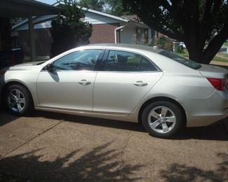 A beautiful 2014 CHEVY Malibu has 25,889 original miles on it!!!!  It's  very clean but has some minor body damage.  If you want to test drive it, an ECLIPSE associate will ride along with you.  However you must first show a valid driver's license.  (This car was kept in the garage and driven by an older woman.  The low mileage is the key here!)