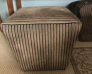 "Plunkett Cherrywood Sofa Table $95 2 Ethan  Allen 20"" Sq x 17h ottomans $150"