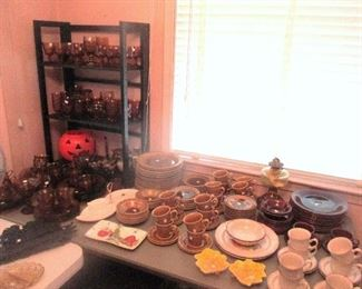 Lots of Amber Glassware for Fall Entertaining!
