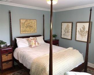 QUEEN BED FRAME / TWO NIGHTSTANDS