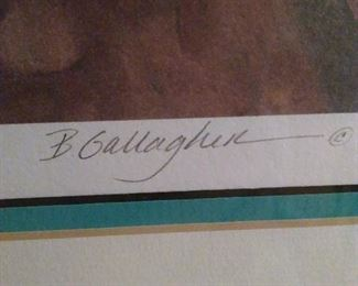 Barbara Gallagher signed Artist Proof Art