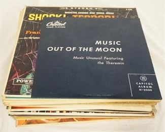 1005 1005LOT OF 25 EXOTICA ALBUMS; MUSIC OUT OF THE MOON MUSIC UNUSUAL FEATURING THE TEREMIN ( 10 IN LP) MUSIC FOR PEACE OF MIND (10 IN LP) XMA SUMAC VOICE OF THE XTABAY (10 IN LP) MUSIC OUT OF THE MOON HARRY REVEL, SUPERSONIC GUITARS BILLY MURE VOLUMES 1 & 2, SHOCK! TERROR! FEAR! FRANKIE STEIN AND HIS GHOULS, BEDSIDE COMPANION FOR PAYBOYS, SKINS! BONGO PARTY WITH LES BAXTER, A TASTE OF HONEY & ANOTHER TASTE OF HONEY! MARTIN DENNY, PER-CUS-SIVE JAZZ DOCTORED FOR SUPER-STEREO VOLUMES 1 & 2, THE SOUNDS OF MARTIN DENNY EXOTICA, SOUNDS IN SPACE, THE EXOTIC SOUNDS OF... ARTHUR LYMAN AT THE CRESCENDO, EROTICA THE RHYTHMS OF LOVE, KOKOMO ASIA MINOR, LES BAXTERS AFRICAN JAZZ, PRESTON EPPS BONGO BONGO BONGO, MUSIC FOR THE SENSATIONAL SIXTIES DON ELLIOT, BONGO MADNESS, A MOMMENT OF DESIRE, DICK STABILE PLAYS FOR YOU & THE HAPPENING ADVENTURES IN THE STRANGE, NEW, MIND MENIFESTING MUSIC BY FIRE & ICE LTD.