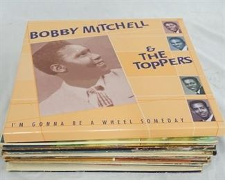 1009 1009LOT OF 24  & B ALBUMS PLUS ONE BOBBY MITCHELL & THE TOPPERS BOXSET WITH 2 CDS & A BOOK INCLUDED. ALBUMS ARE; A PORTRAIT OF ARTHUR PRYSOCK, EVERLASTING SONGS FOR EVERLASTING LOVERS ARTHUR PRYSOCK, THE DUKE OF EARL, THE IMPALAS SORRY (I RAN AWAY FROM HOME) SCREAMIN' JAY HAWINS & LILLIAN BRIGGS, ALAN FREEDS MEMORY LANE, EARL BOSTIC- THE SONG IS NOT ENDED, ALTO MAGIC A DANCE PARTY W/ BOSTIC, EARL BOSTIC PLAYS THE FANTASTIC 50S (TWO COPIES ONE IS STEREO) BILLY ECKSTINE BROADWAY BONGOS AND MR *B* THE BOLL WEEVIL SONG BROOKE BENTON, SONG FOR THE LONELY THE PLATTERS, ENCORE OF GOLDEN HITS THE PLATTERS, THE FIVE KEYS ON STAGE! (PROMOTIONAL COPY) ARTHUR PRYSOCK I WORRY ABOUT YOU, ARTHUR PRYSOCK SINGS ONLY FOR YOU, COAST TO CAOST ARTHUR PRYSOCK, OTIS REDDING IN PERSON AT THE WHISKEY A GO GO, THE BEST OF LITTLE ANTHONY AND THE IMPERIALS, CELEBRITY SHOWCASE PRESENTS THE GEATOR JERRY BLAVAT WITH THE BESDT OF THE FIVE SATINS, THE ONE & ONLY SAME COOKE, JOHNNY GUITAR WATSON HOT LITTLE MAMA &