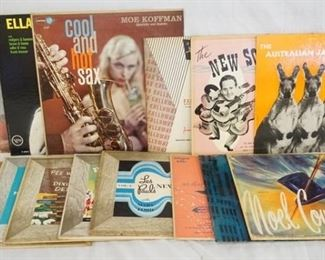 1011 1011LOT OF 15 JAZZ ALBUMS (11 OF THEM ARE 10 IN LPS)  BILLY MAY BIG BAND BASH, PEE WEE HUNG AND HIS ORCHESTRA DIXIELAND DETOUR, MODERN SOUNDS SHORTY ROGERS AND HIS GIANTS, CLASSICS IN JAZZ TRUMPET STYLISTS, THE AUSTRALIAN JAZZ QUARTET, NOEL COWARD, CAB CALLOWAY, THE NEW SOUND! LES PAUL, LES PAUL NEW SOUND VOL.2, RAY MCKINLEY PLAYS SAUTER AND OTHERS, ...DOWN IN THE DEPTHS OF THE 90TH FLOOR MISS HELEN CARR, OUT OF THE MIST TOMMY HENDRIX, MUSIC FROM JACK WEBB'S MARK VII LTD. PRODUCTION PETE KELLY'S BLUES, COOL & HOT SAX MO KOFFMAN & ELLA SINGS BROADWAY