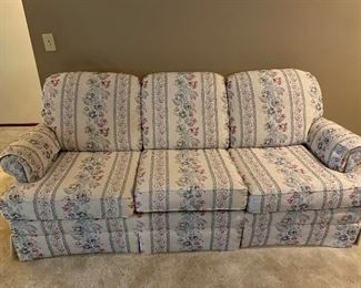 Very comfortable sofa - mint condition  and has a coordinating chair and ottoman.