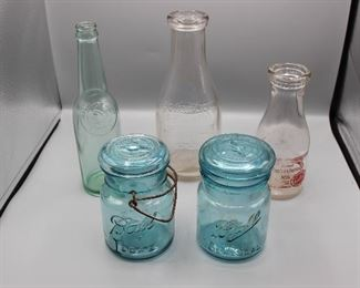 Antique Bottes and Ball Jars