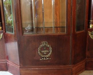 Antique Empire Style Ornate Cabinet